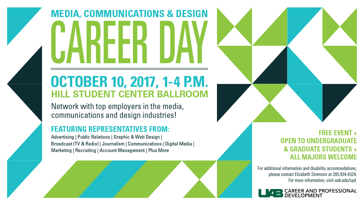 Explore job opportunities at Media, Communications and Design Career Day on Oct. 10