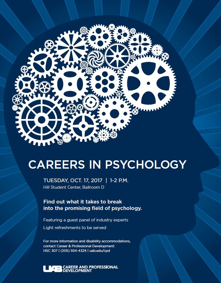 Learn about Careers in Psychology on Oct. 17
