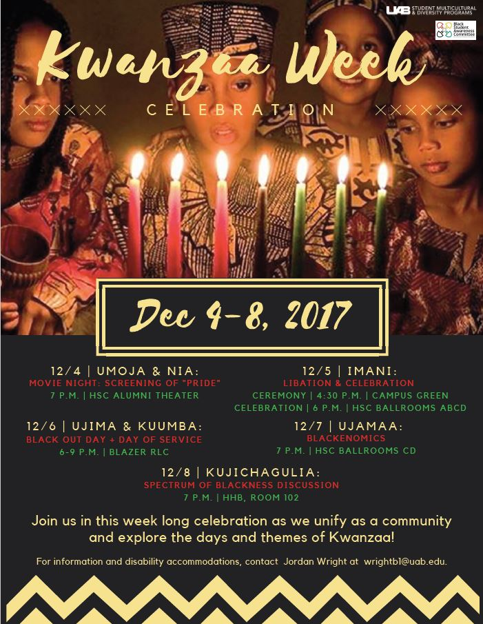 Kwanzaa Week Celebration takes place from Dec. 4-8!