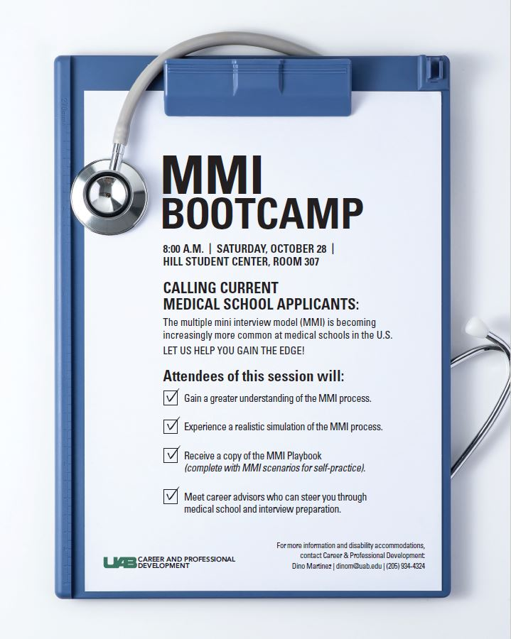 uab student affairs news mmi bootcamp offers a sneak. Black Bedroom Furniture Sets. Home Design Ideas