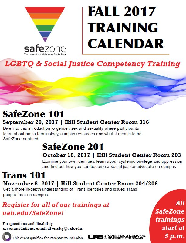 Sept. 20 is SafeZone training time!