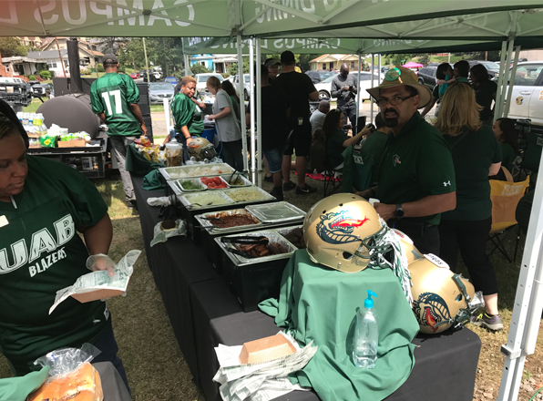 UAB Student Affairs celebrates our vets with a game day tailgate