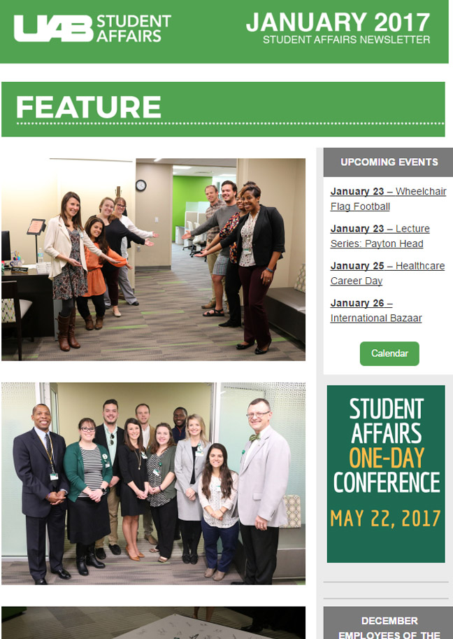 January 2017 Student Affairs Newsletter