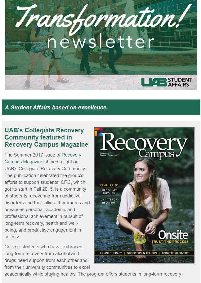 July 2017 Student Affairs Newsletter