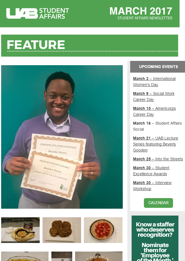 March 2017 Student Affairs Newsletter