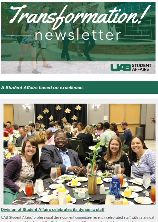 May 2017 Student Affairs Newsletter