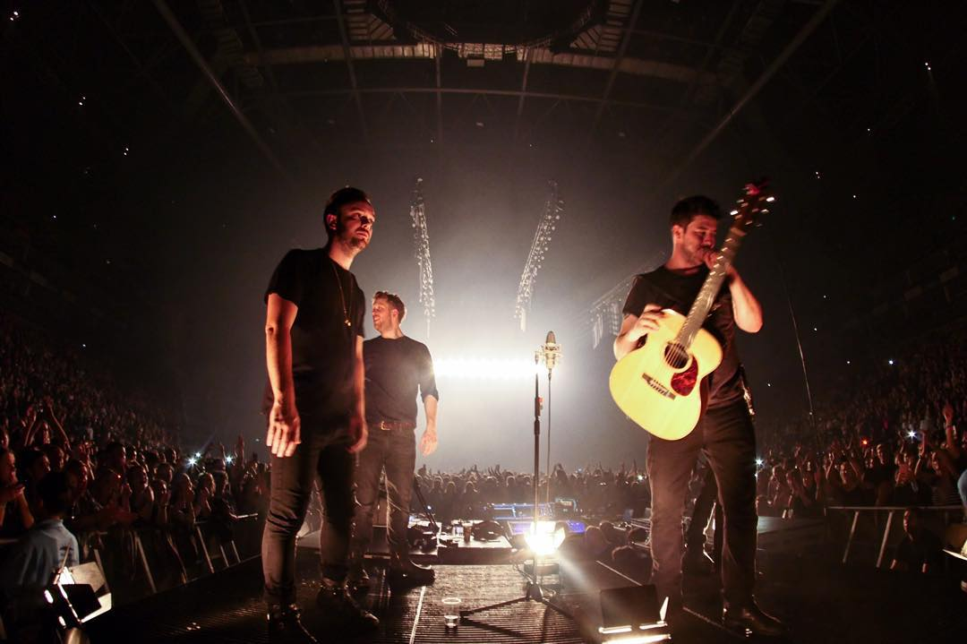 Mumford and Sons playing a show in London. (Photo from the band's Instagram).