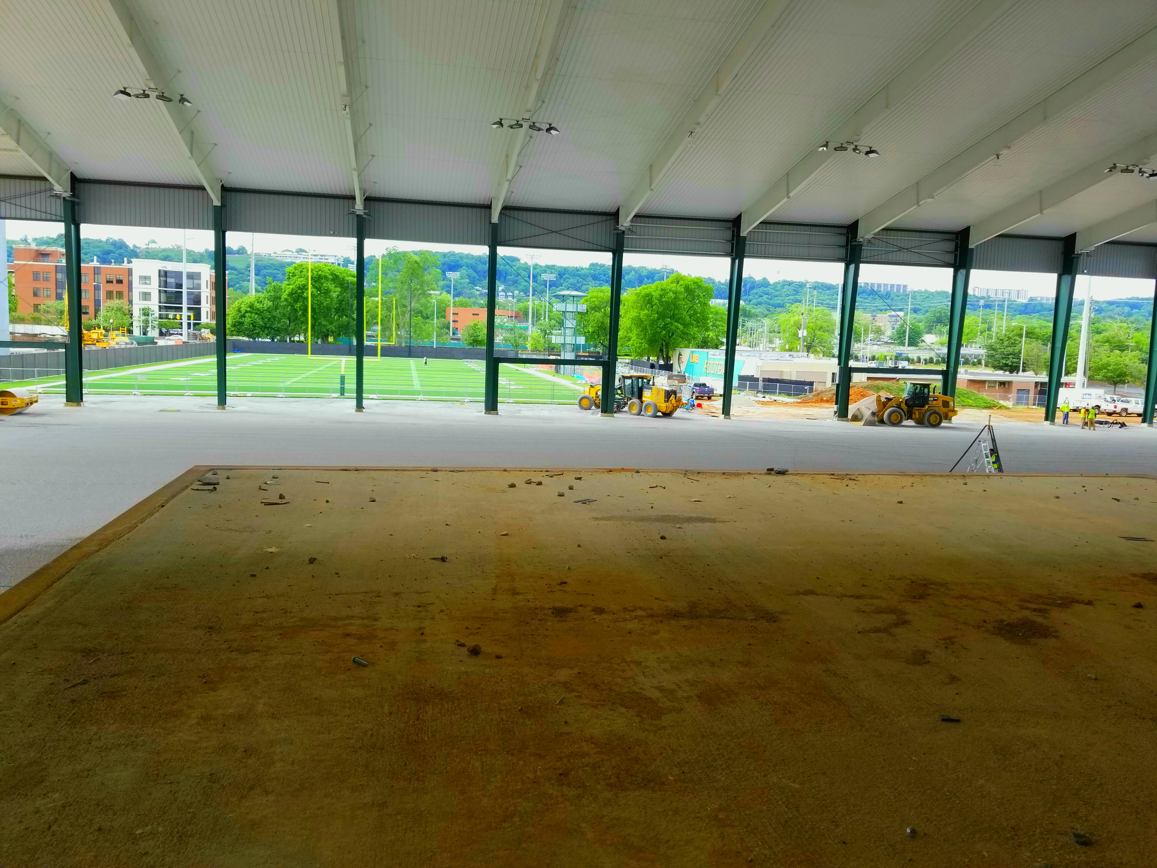 From the cardio loft on the second floor, players will be able to overlook Legacy Pavilion and practice field.