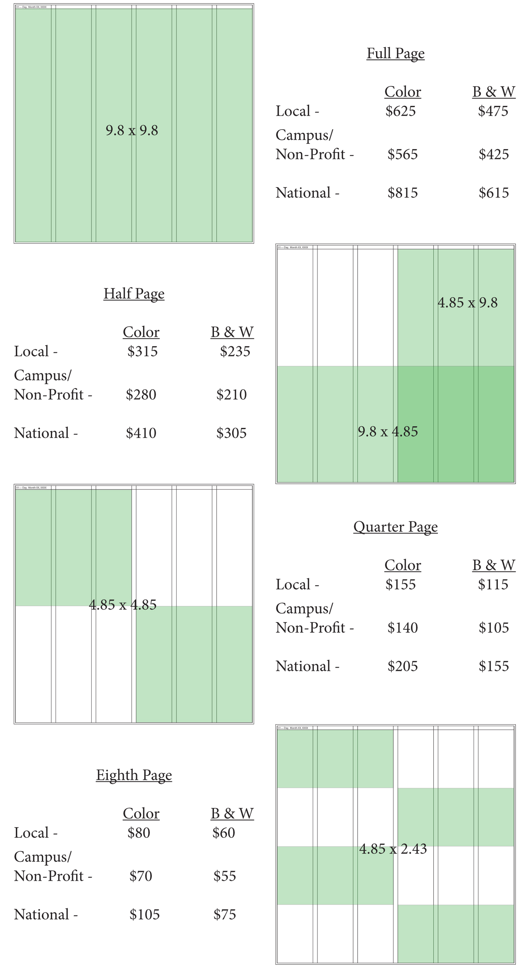 Page Pricing