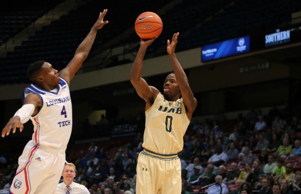 UAB faced La Tech in the first round of the Conference USA tournament on March 9. Photo from UABsports.com