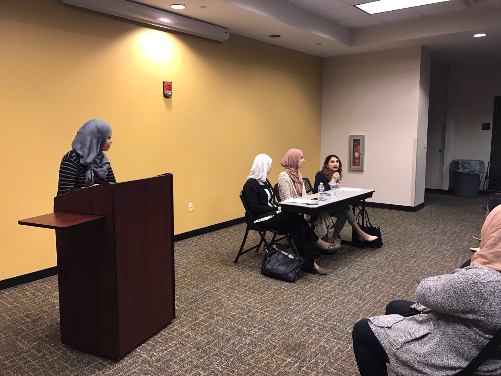 Panelists from left to right: Ream Shoreibah, Hala Sabatto and Shima Dowla. Photo courtesy of MSA