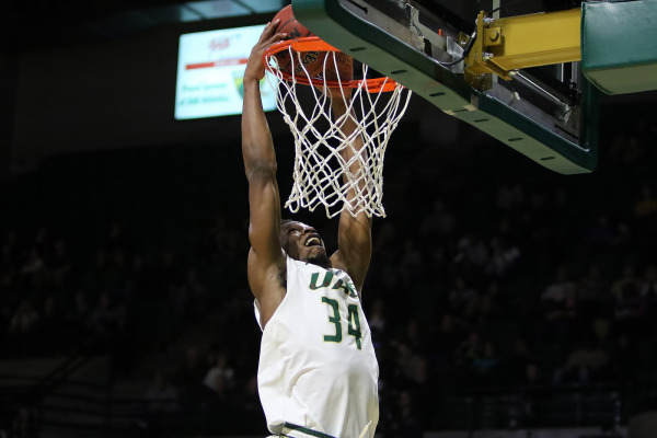 Junior forward William Lee scored the game-winning basket to advance the Blazers to the second round of the conference tournament. Photo from UABsports.com