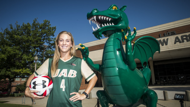 Friday's game celebrated the career of lone senior, Sarah Morris. Photo from UABsports.com