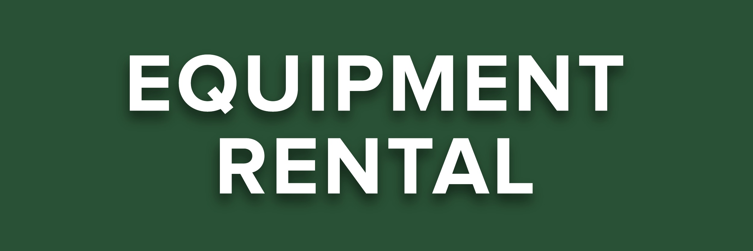 EQUIPMENT RENTAL BTN