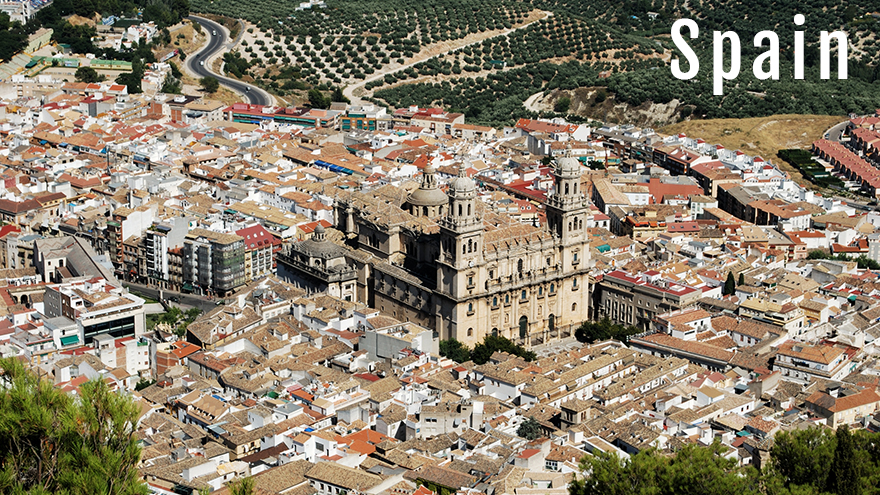 Cathedral And City View Jaen SPAIN