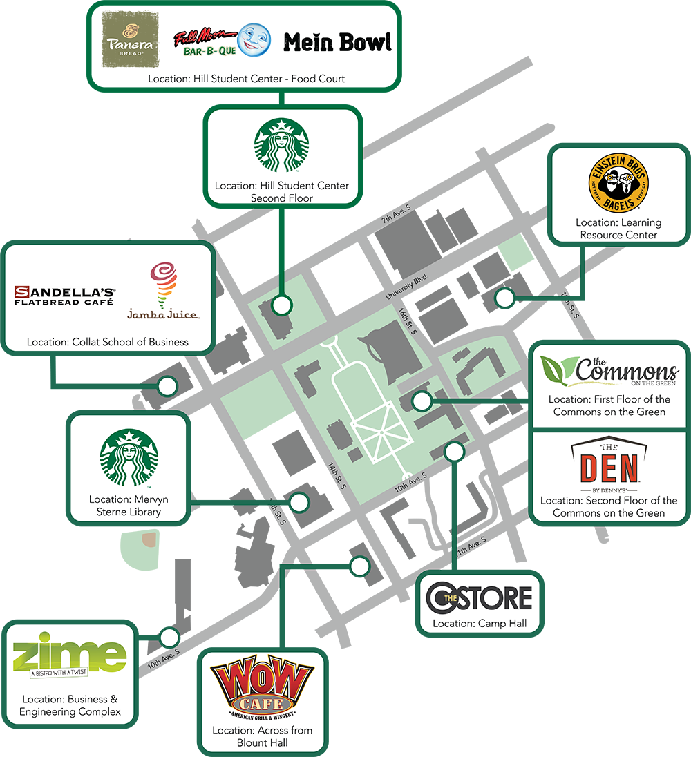 2018 Campus Map Diningv1