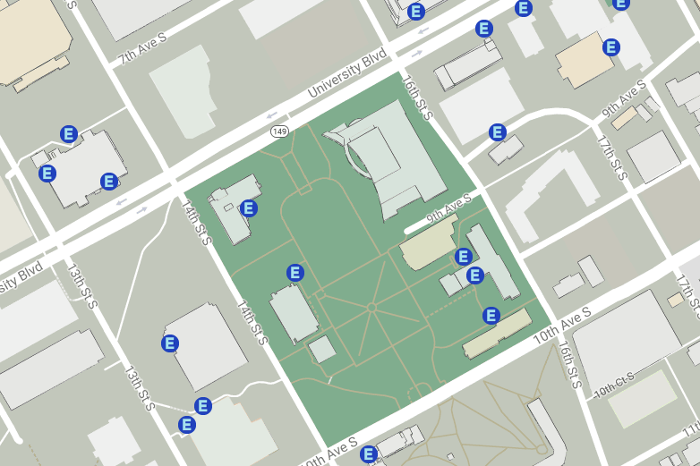 UAB - Students - Disability Support Services - Maps