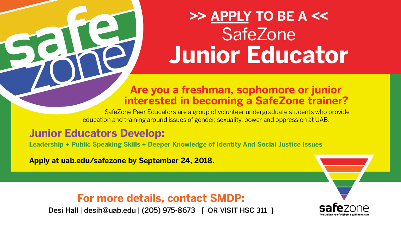 SMDP SUM18 SafeZone JuniorEducatorApplications DigitalSignage Final