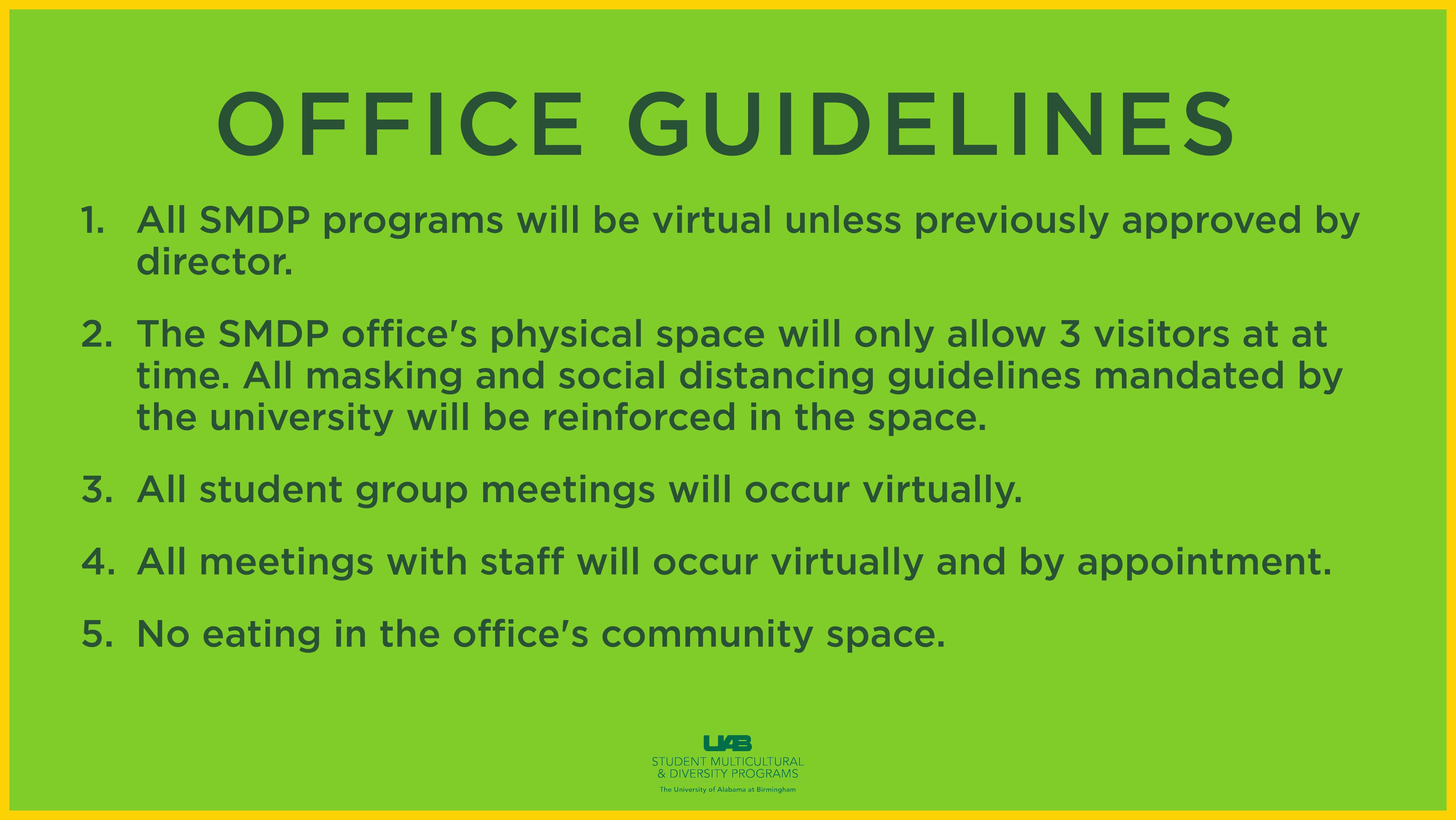 SMDP Office Guidelines