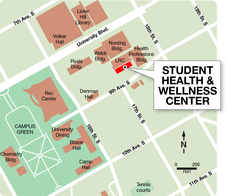 UAB - Students - Health - Directions & Parking