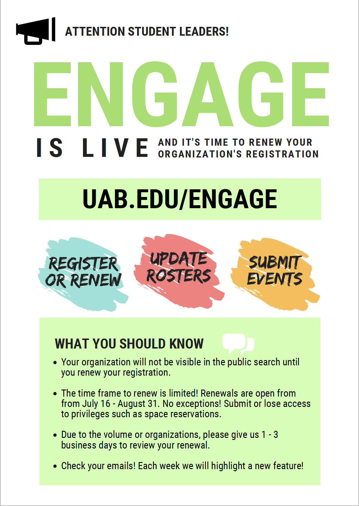 Engage is Live