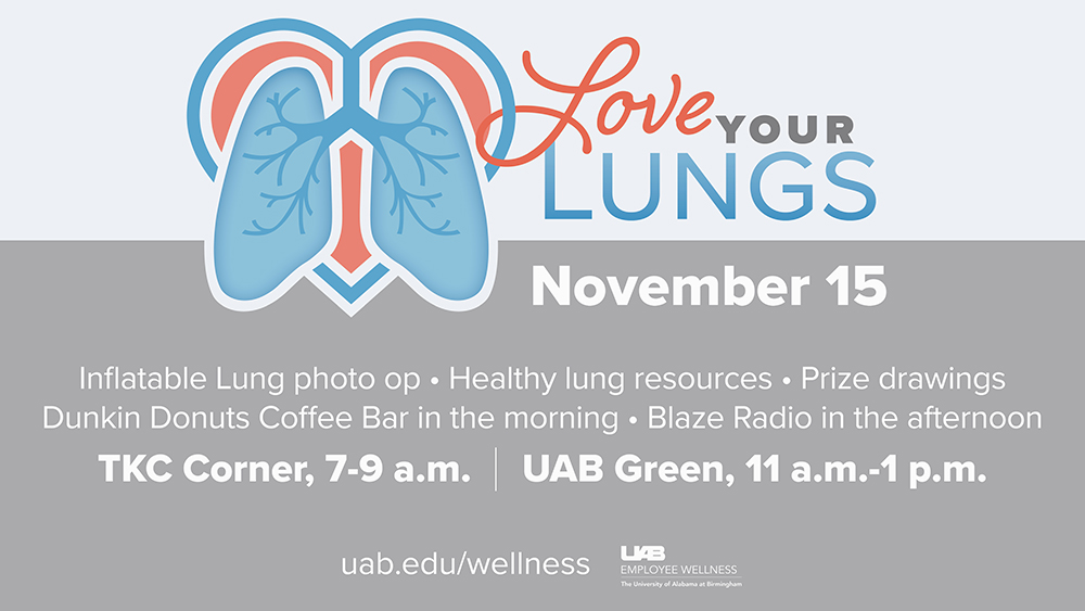 Love your lungs event details