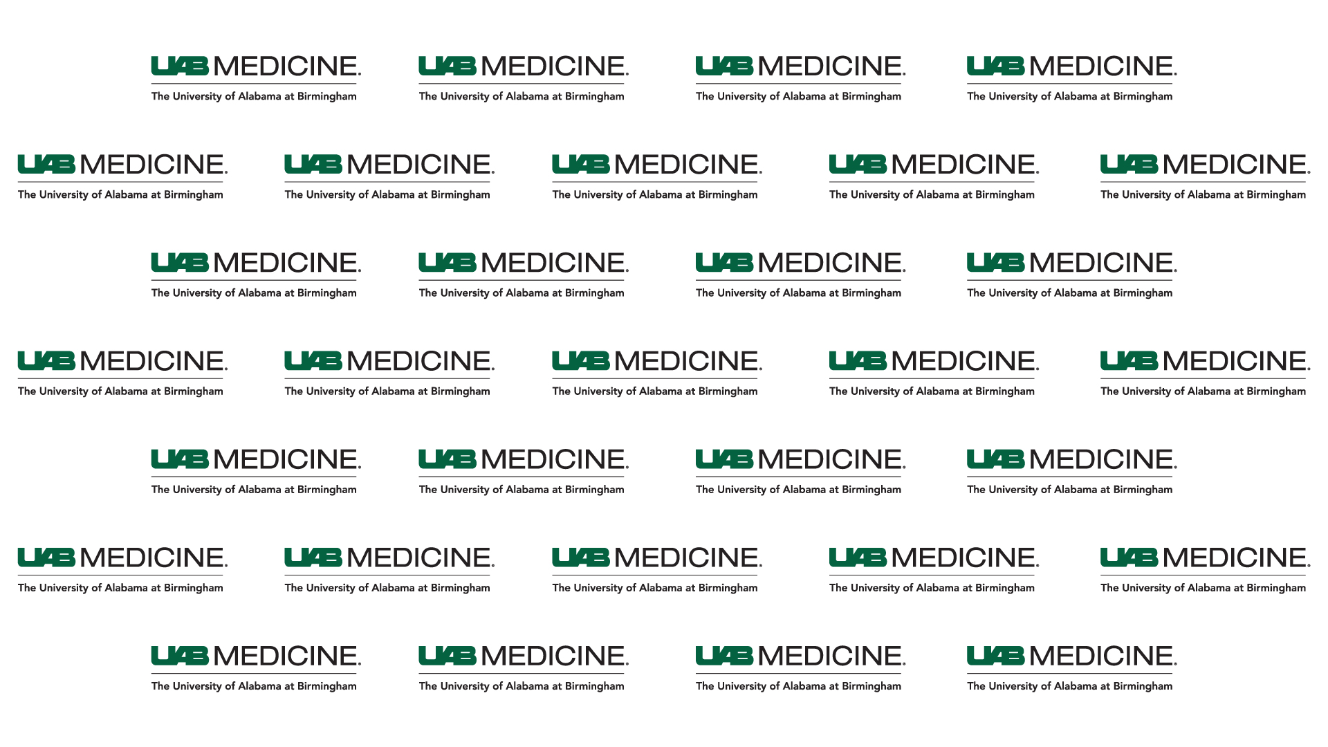 UAB Medicine logo repeated on white backdrop.