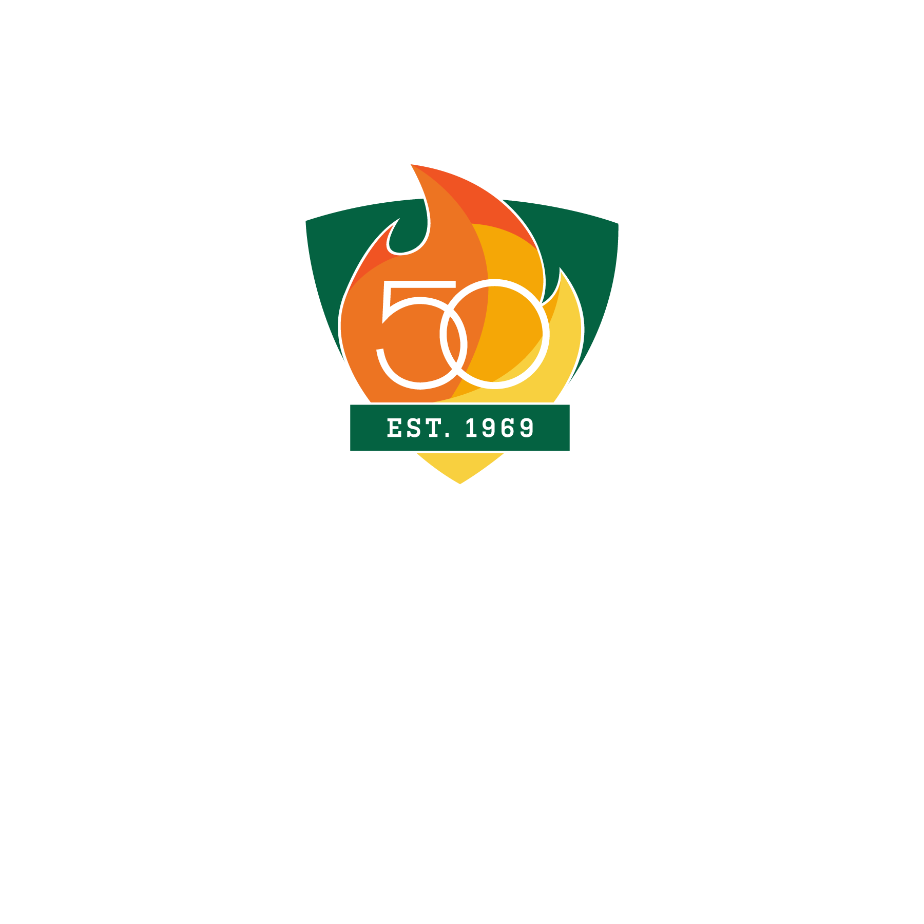 UAB 50th Logo - Shield Only - Color with White Outline