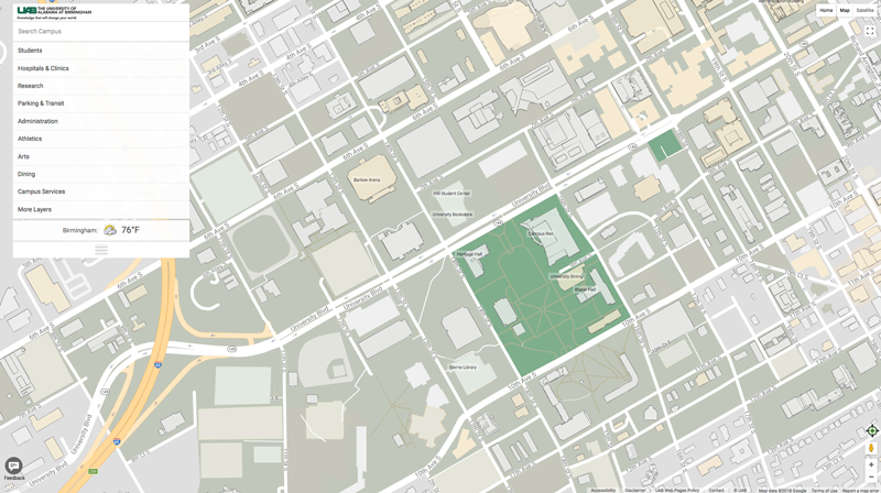 UAB   Toolkit   Campus Map