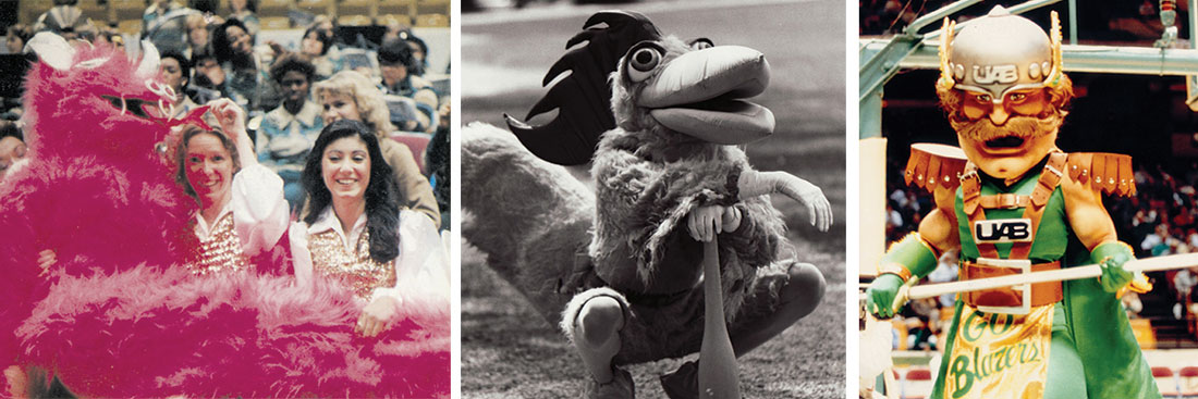 Photos of old mascots