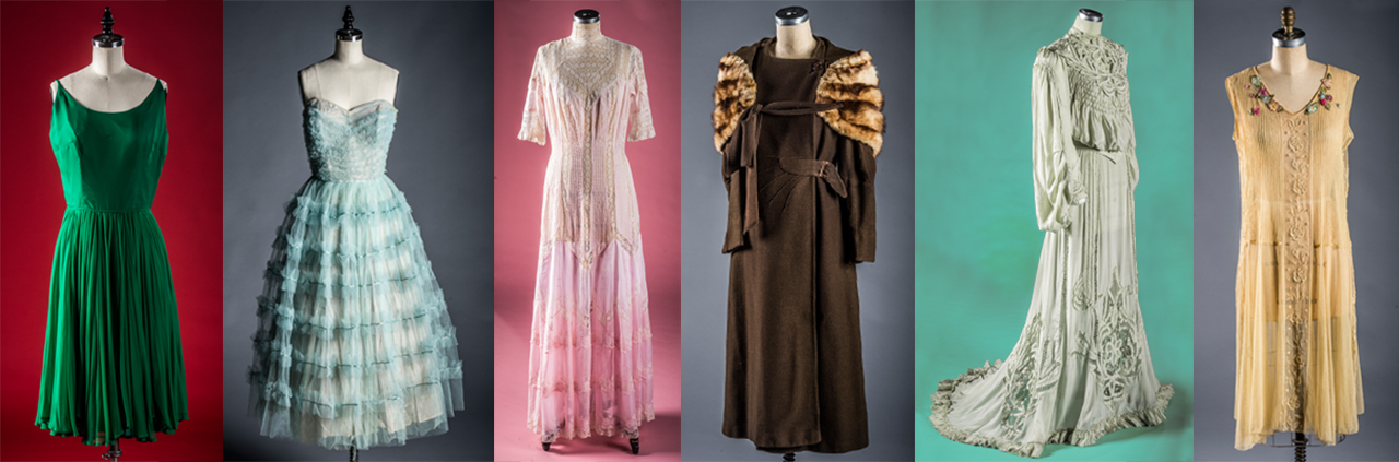 Photos of dresses from the vintage collection