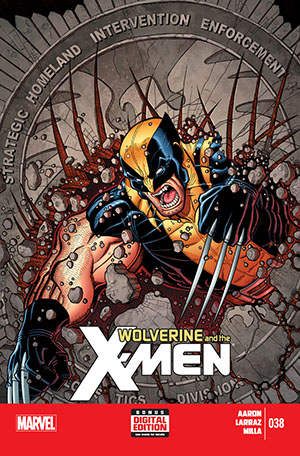 over of Wolverine and the X-Men comic; Marvel Entertainment/Art by Nick Bradshaw