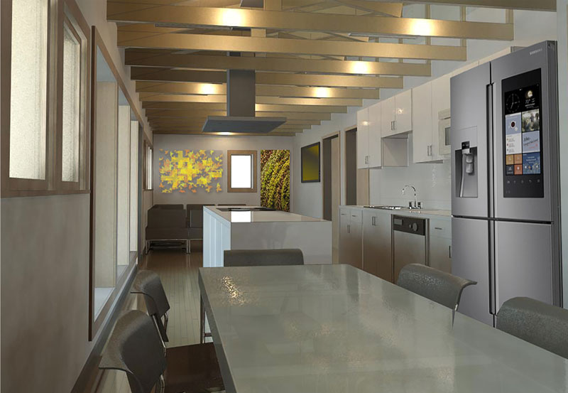 Rendering of Solar Decathlon house interior