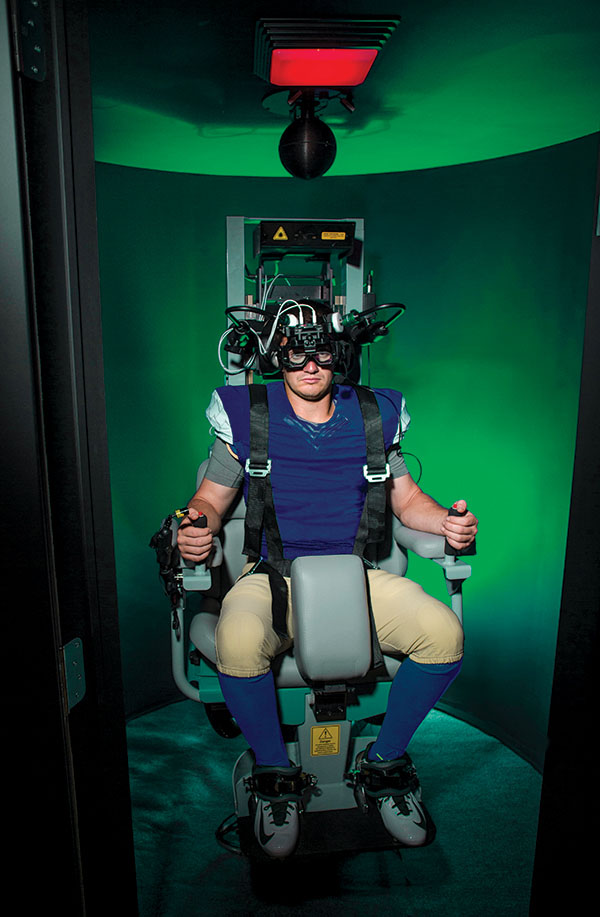 Photo of person sitting in VORLab chair