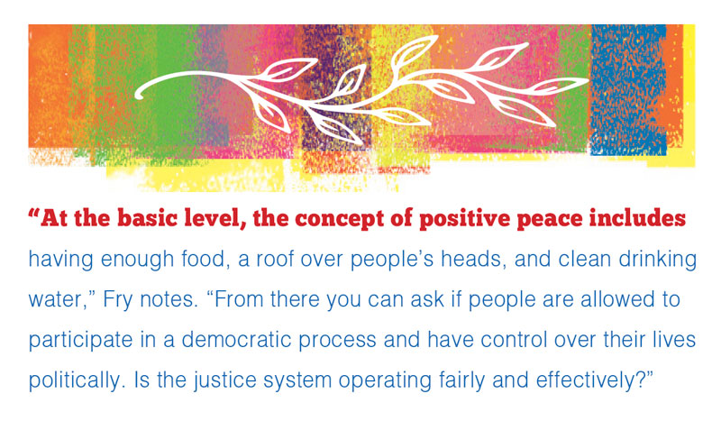Pullquote about the concept of positive peace