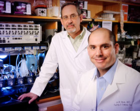 UAB cystic fibrosis researchers David Bedwell and Steven Rowe