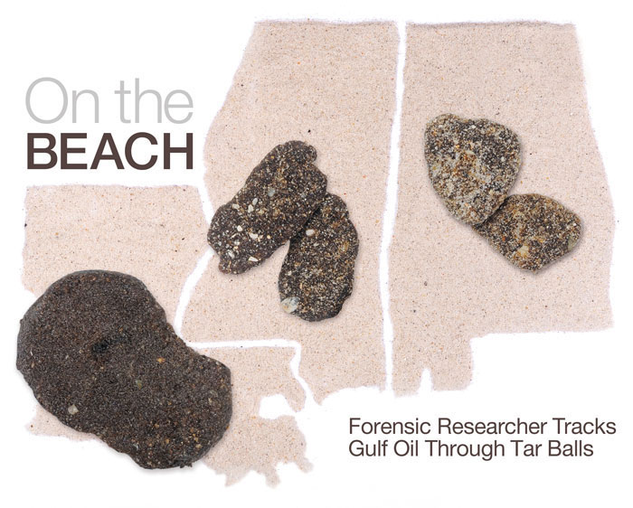UAB forensic scientists studies tar balls
