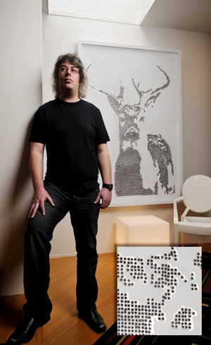 UAB IT specialist Walt Creel is gaining fame for his ballistic art.