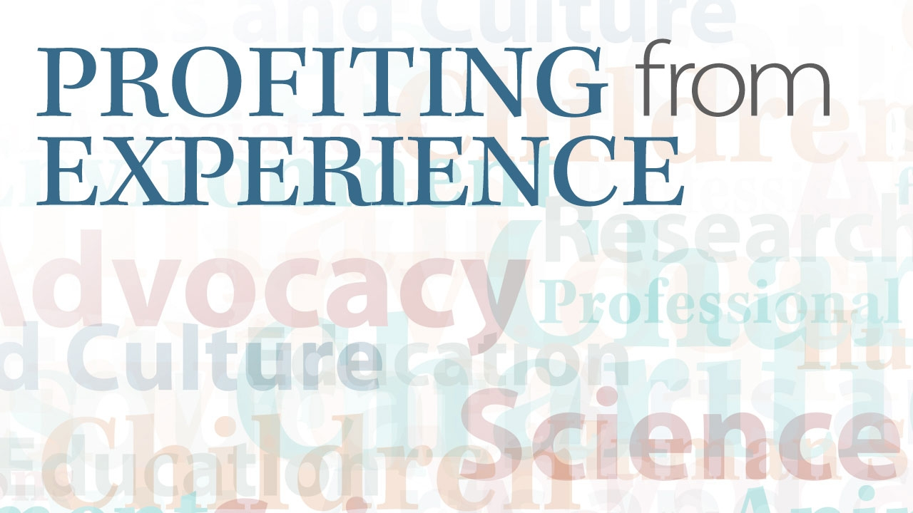 Illustration with words representing different types of nonprofits; title: Profiting from Experience