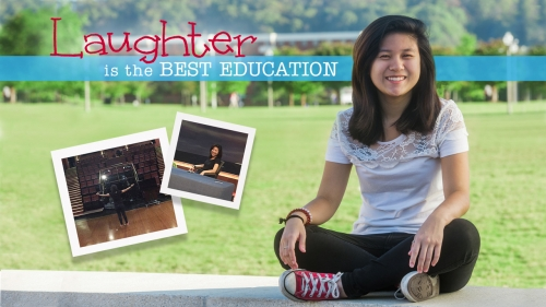 Photo of Gerrie Lim; title: Laughter Is the Best Education