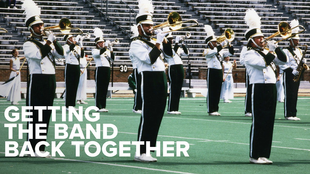 UAB Archives photo of Marching Blazers from 1990s