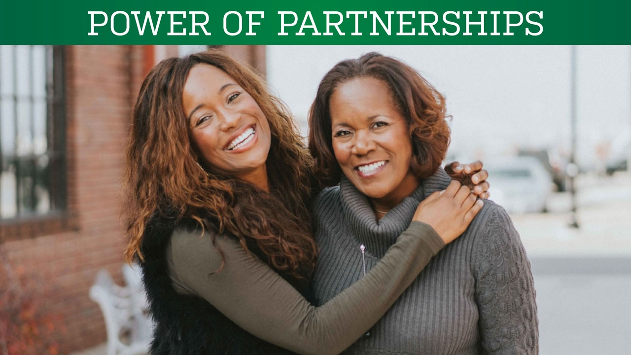 Photo of Mixtroz founders Ashlee Ammons and Kerry Schrader; headline: Power of Partnerships