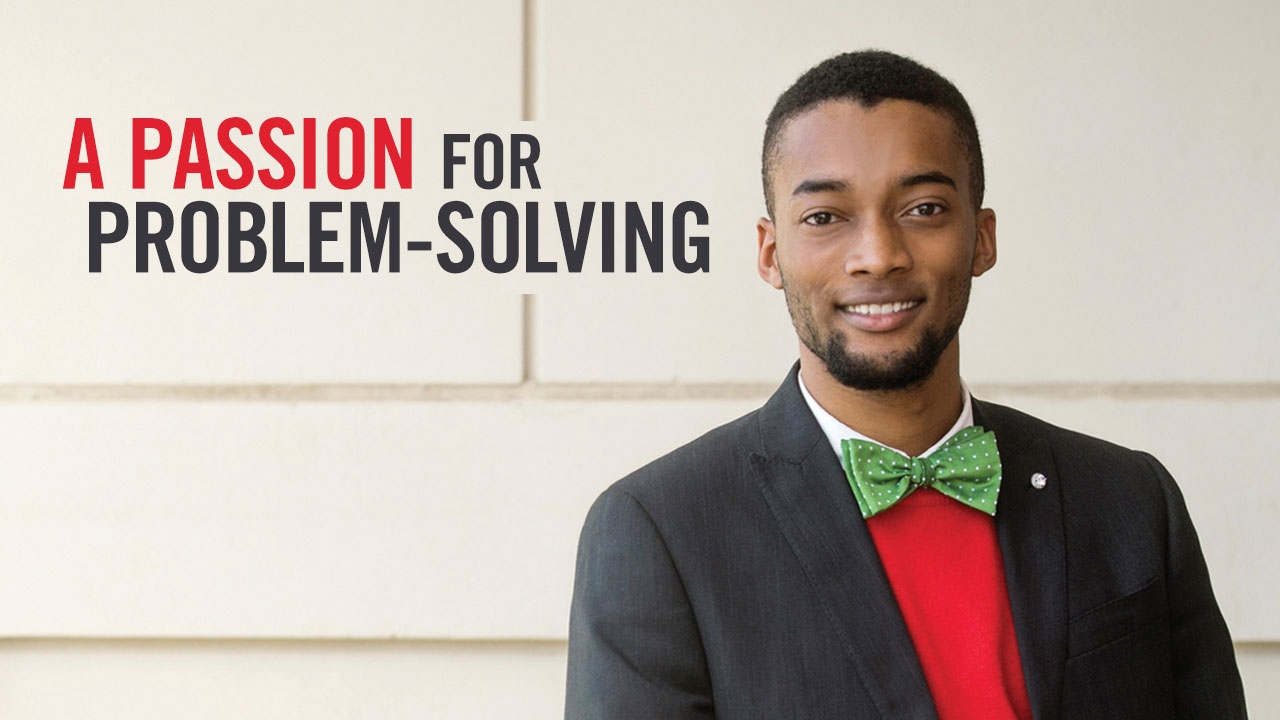 Photo of Lamario Williams; headline: A Passion for Problem-Solving