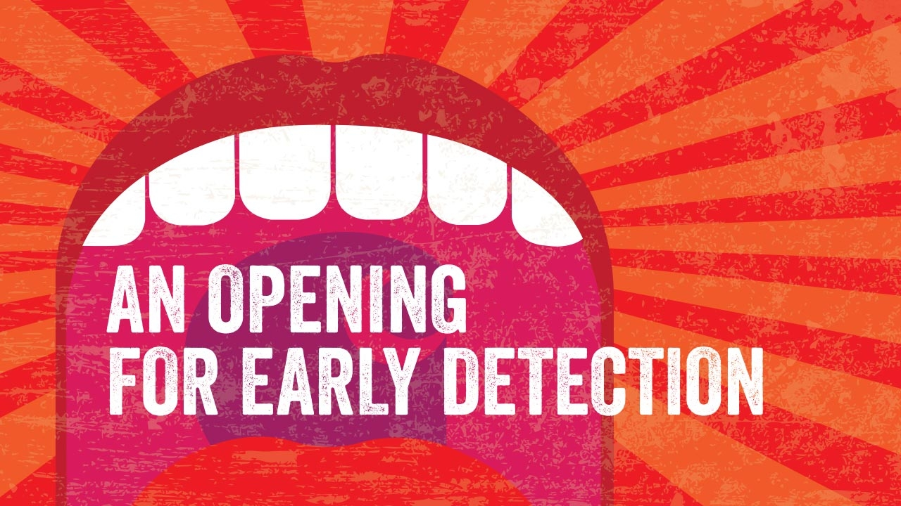Illustration of open mouth; headline: An Opening for Early Detection